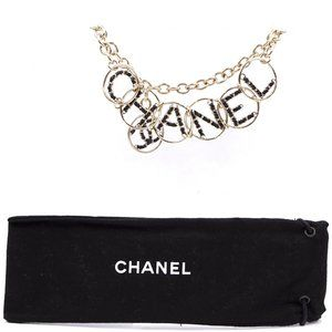 CHANEL Jewelry - Xxl Cc Logo Spelled Out Gold Choker Necklace